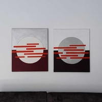 Two acrylic authentic art paintings 50x61cm -signed by cypriot artist