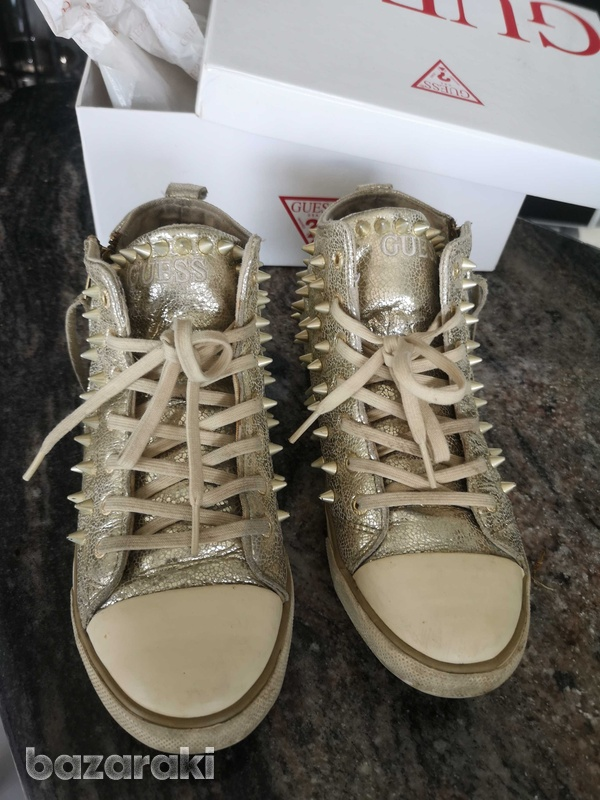 Guess gold trainers size 38-5