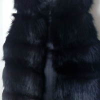 Verde fur style sleeveless jacket - one size for all