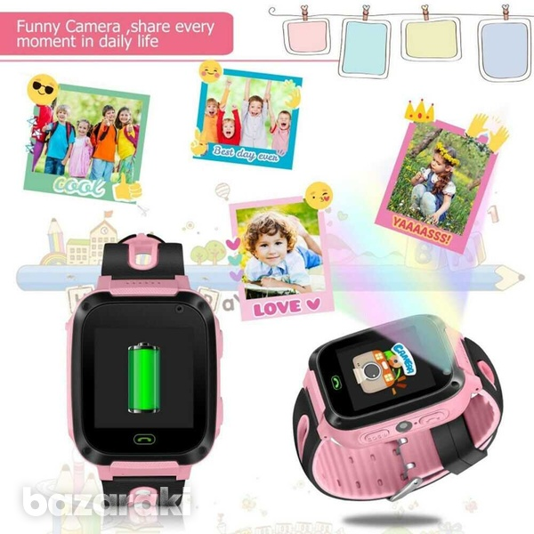 Children safe smart watch 2gtouch screen location tracker with came-2