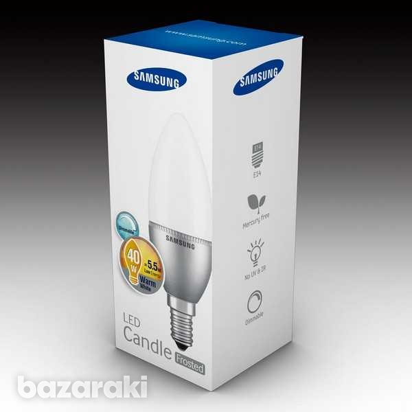 Samsung led candle e14 5.5w frosted dimmable-5