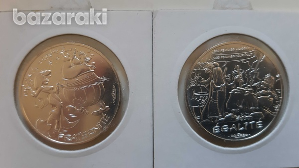 France 12 silver collector's coins with asterix - look at the pictures-6