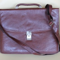 Leather dr.koffer flapover briefcase
