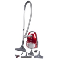 Hoover telios plus bagged vacuum cleaner, 700w, 3.5l, aaaa, red