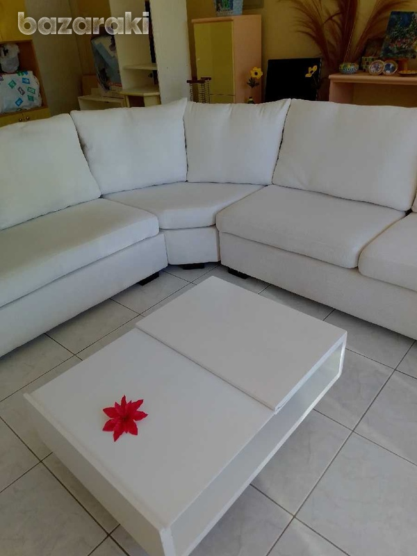 Coffee table with adjustable feets 90x65 excellent condition like new.-8