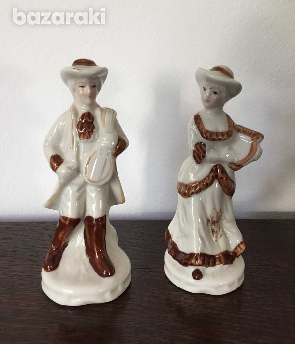 Vintage man and lady figurines 15cm height set-2