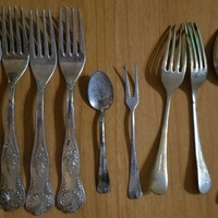 Old plated cutlery nickel silver