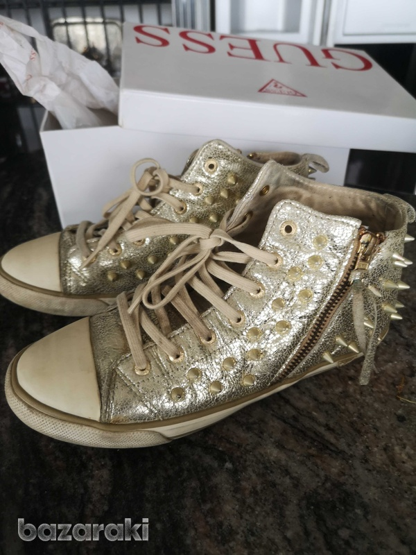 Guess gold trainers size 38-6