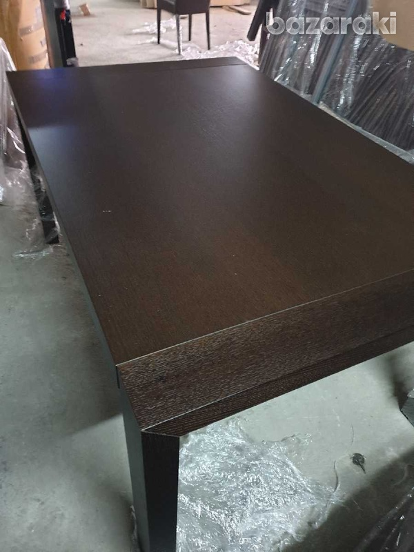 Extendable dining table with 8 leather chairs/ τραπέζι με 8 καρεκλες-4