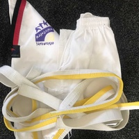 Taokwon do suit and belts set