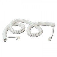 Lindy telephone handset cable - white