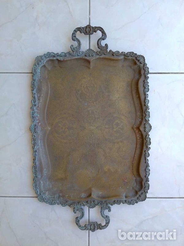 Tray antique from the year 1900.δισκος αντίκα από το έτος 1900.-2